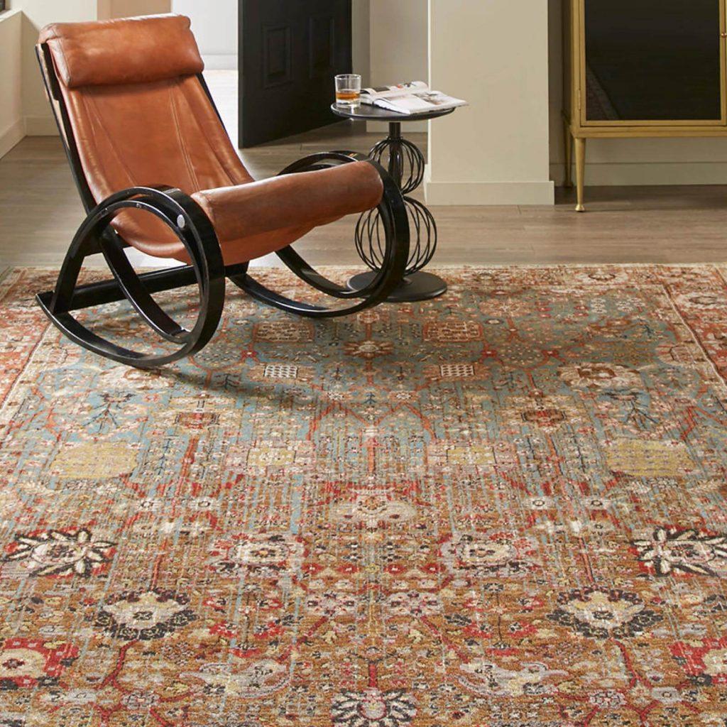 Armchair on Area Rug | Carpet Advantage