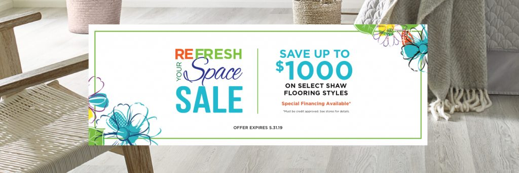 Refresh your space sale banner | Carpet Advantage