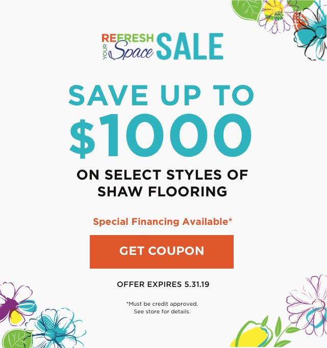 Refresh your space sale banner | Carpet Advantage